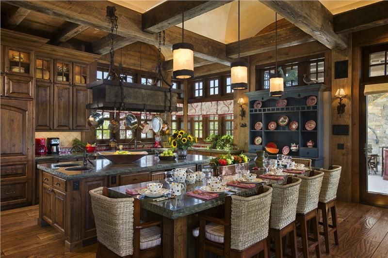Open Country/Rustic Kitchen By Jerry Locati
