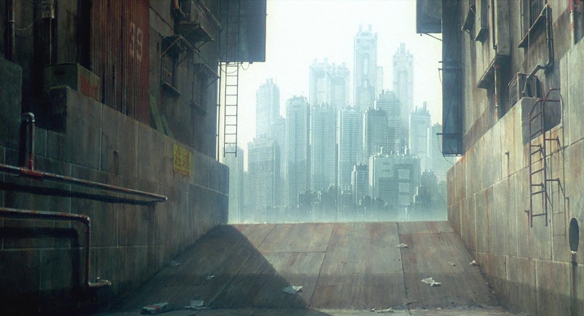 Gits Architecture In 2020 Ghost In The Shell Art Cyberpunk City