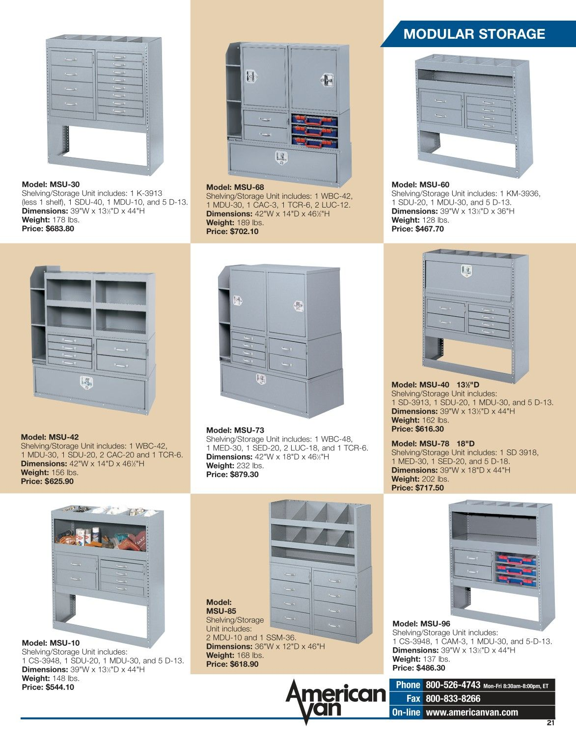 Catalog 130 Locker Storage
