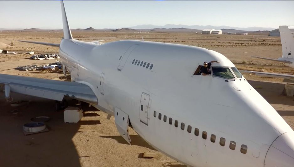 Big Imagination 747 Project : To bring a plane to Burning Man 2015