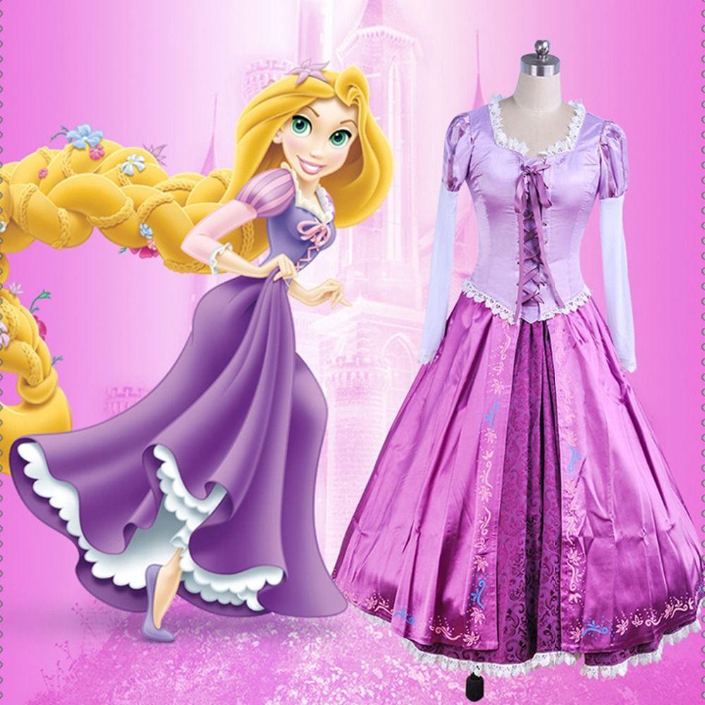Adult Princess Rapunzel Rapunzel Cosplay Costume Sofia Halloween ...