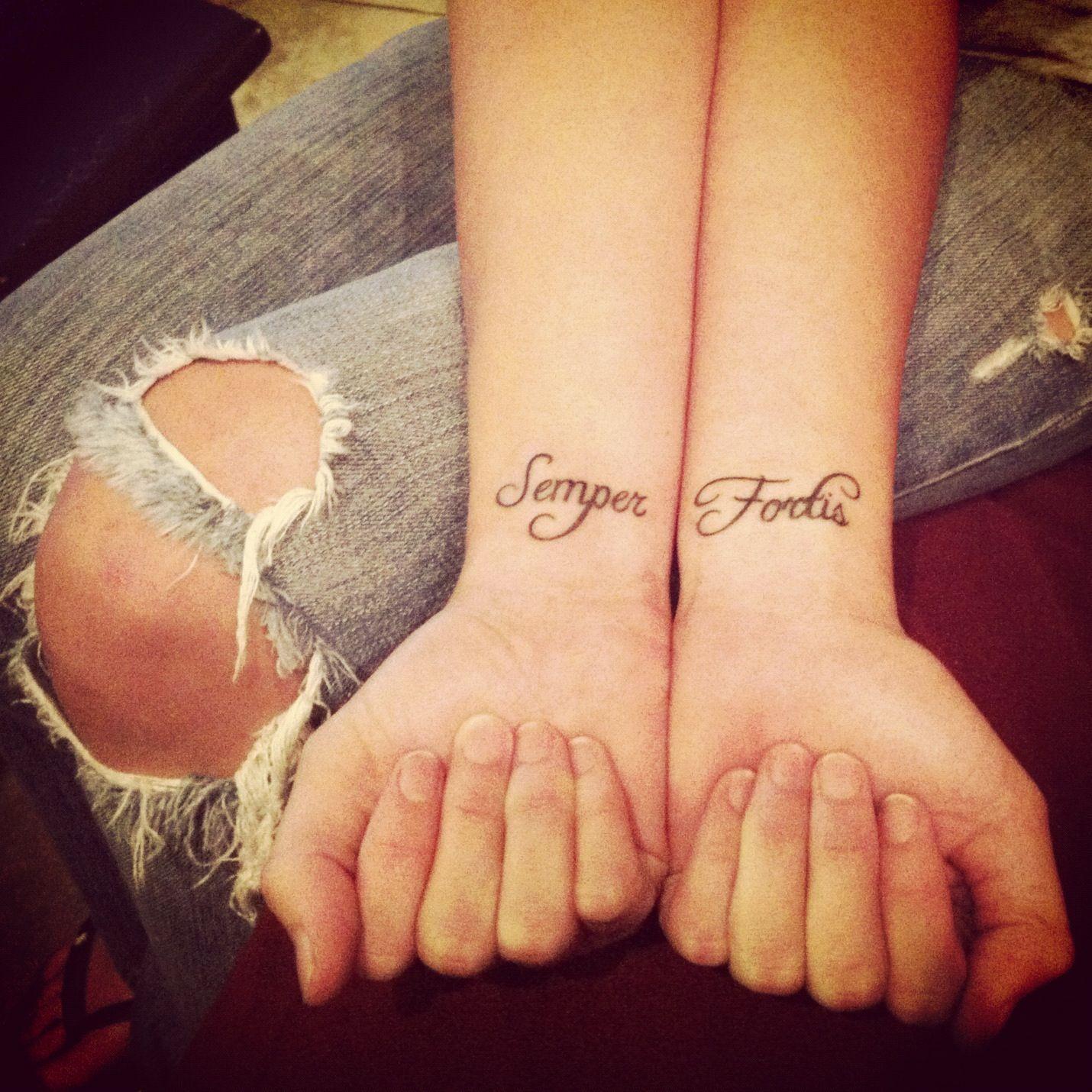 My Tattoos Semper Fortis Always Courageous Ink