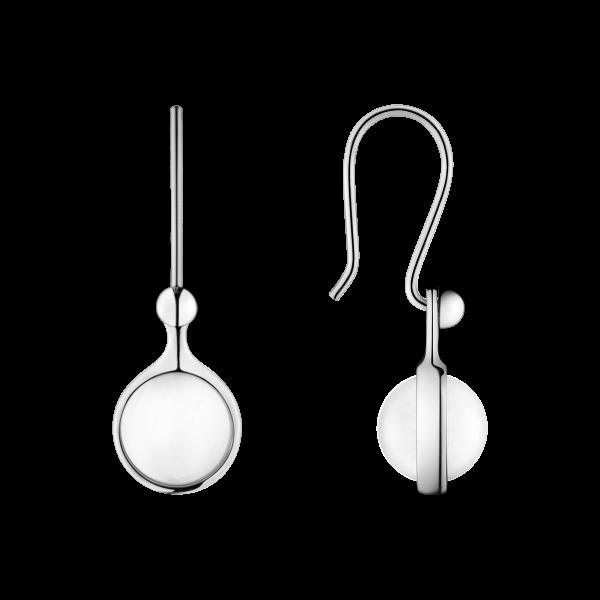 Georg Jensen Spirit øreringe m/bjergkrystal - sølv