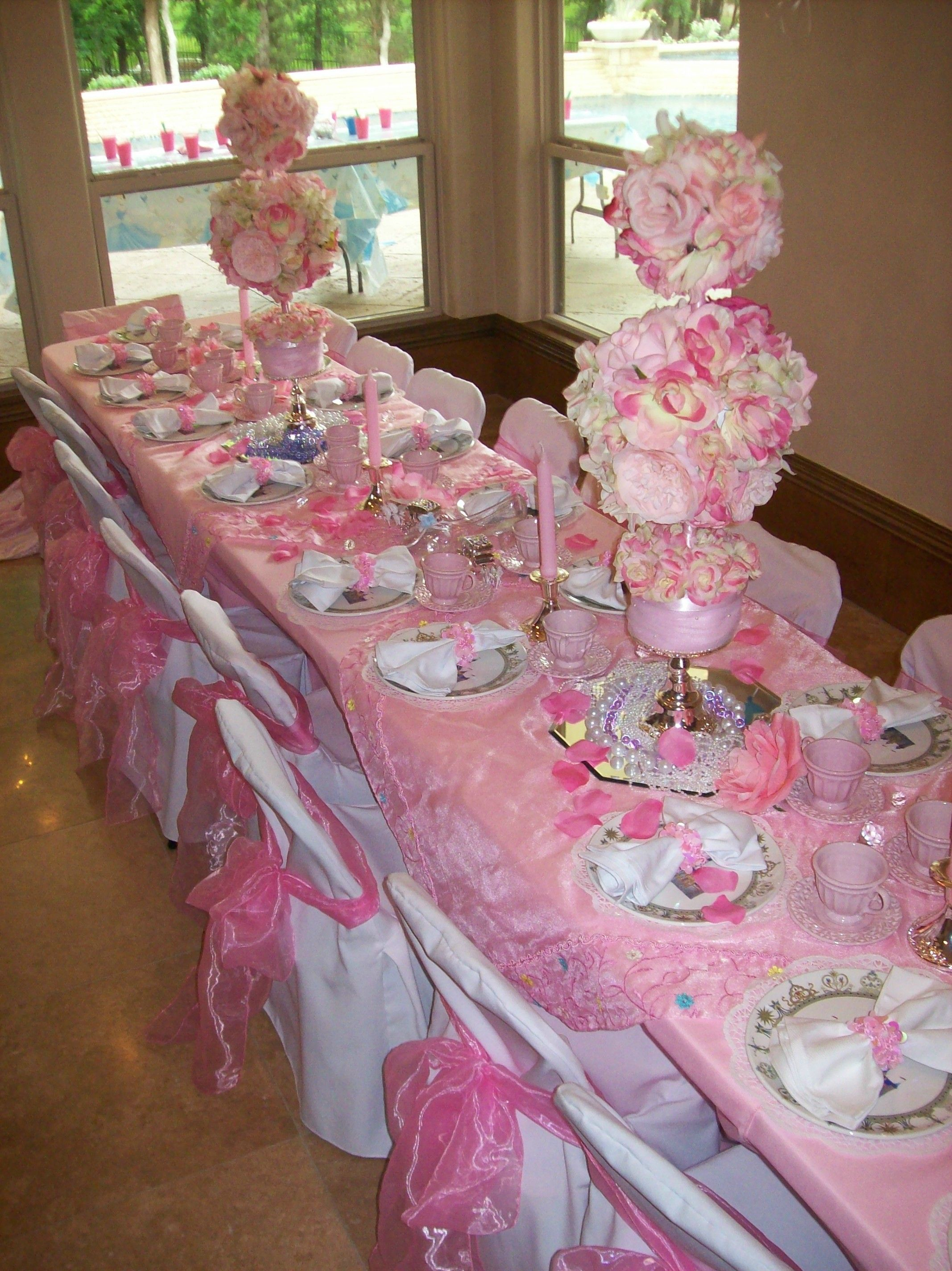 Birthday table decorations for girls - Spa Party Ideas For Girls Birthday Parties Princess Birthday Kids Child