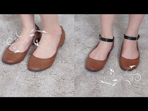 898f6b1173dc How to add a detachable ankle strap to your flats heels. Ankle Shoes