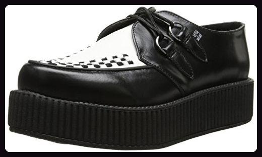 kMondo 46 Sneaker T Sole u Round CreeperDamen Schwarz QhrdCts