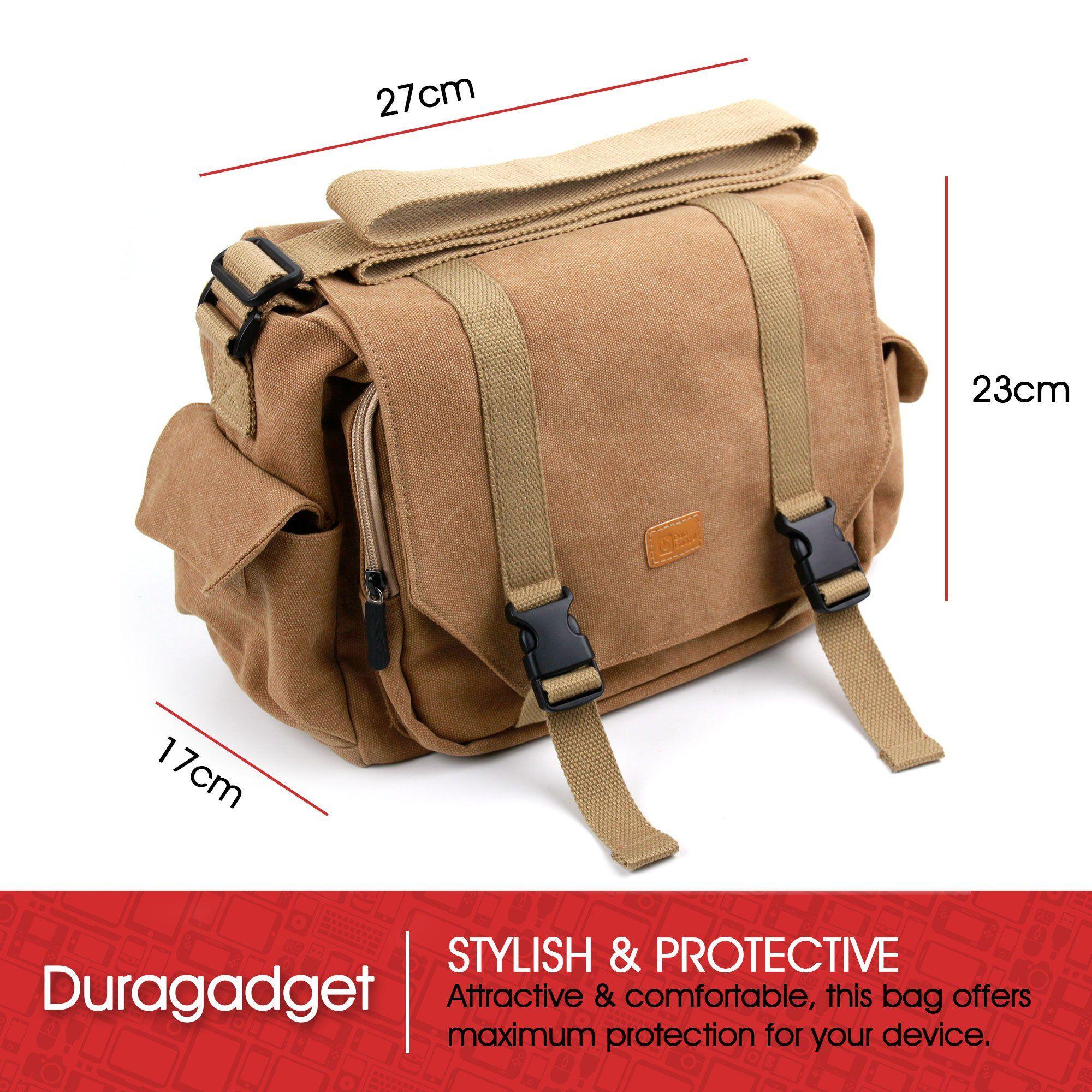 a41bf3ccab6f DURAGADGET Brown Canvas Carry Bag GoPro Hero6 Hero5 Hero 4 Black ...