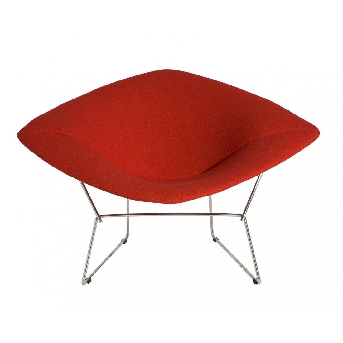 Fully Upholstered Diamond Chair - Red | Harry bertoia, Mid century ...