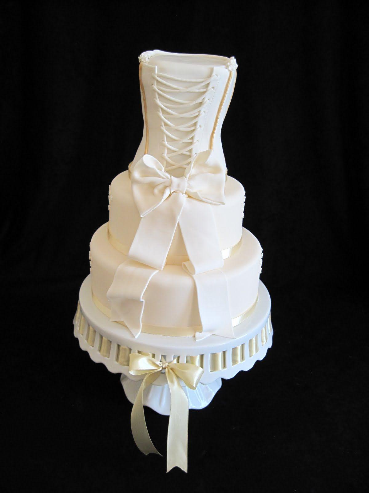 White Dress Cake ~ beautiful!   wedding <3   Pinterest   Dress cake ...