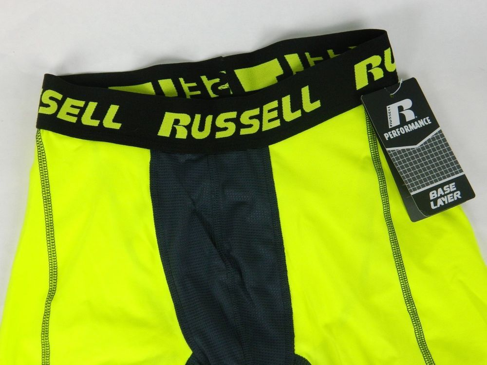 Russell Performance Mens Base Layer Compression Pants Neon