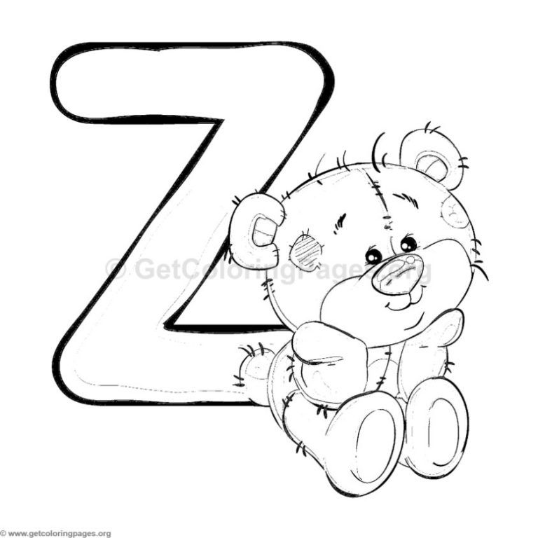 Teddy Bear Alphabet Coloring Sheets Getcoloringpages Org