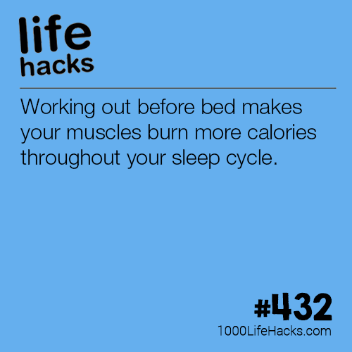 Working Out Before Bed Working out before bed makes your muscles burn more calories throughout your sleep cycle.Working out before bed makes your muscles burn more calories throughout your sleep cycle.