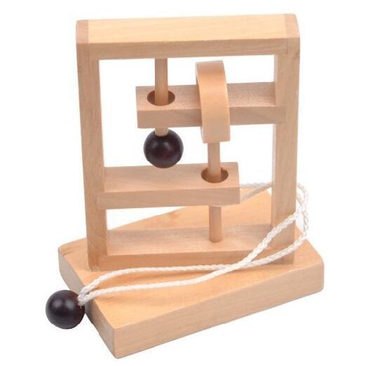 Classic Iq Puzzle Mind Brain Teaser 2d 3d Wooden Puzzles Educational