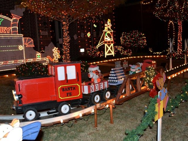 kindla christmas train this family has some amazing and ingenious train displays for christmas look up wwwkiindlachristmascom - Santa Train Outdoor Christmas Decoration