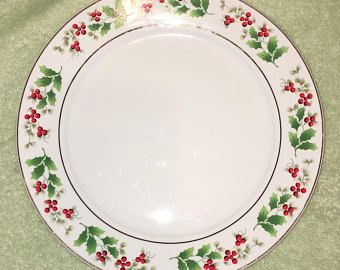 Royal Norfolk Christmas Dinnerware plate. Pattern is RNF 15. English china White with green leaves and Holly Berries Gold ring and trim.  sc 1 st  Pinterest & Royal Norfolk Christmas Dinnerware plate. Pattern is RNF 15. English ...