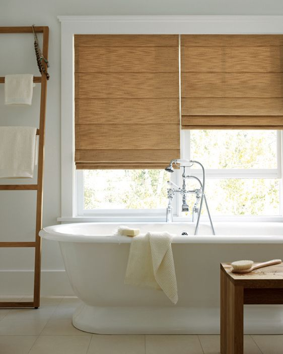 Roman Shades Hunter Douglas Window Treatments Available At - Roman shades for bathroom window