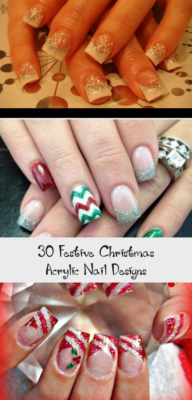Photo of 30 Festive Christmas Acrylic Nail Designs – Beauty