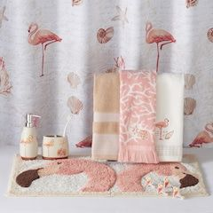 Saay Knight Ltd C Gables Flamingo Shower Curtain Collection