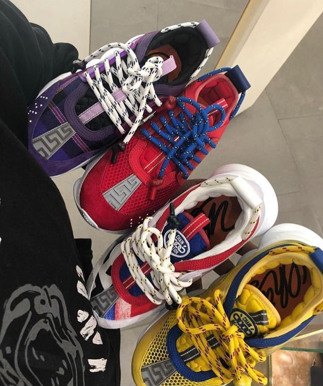 versace sneakers chain reaction price