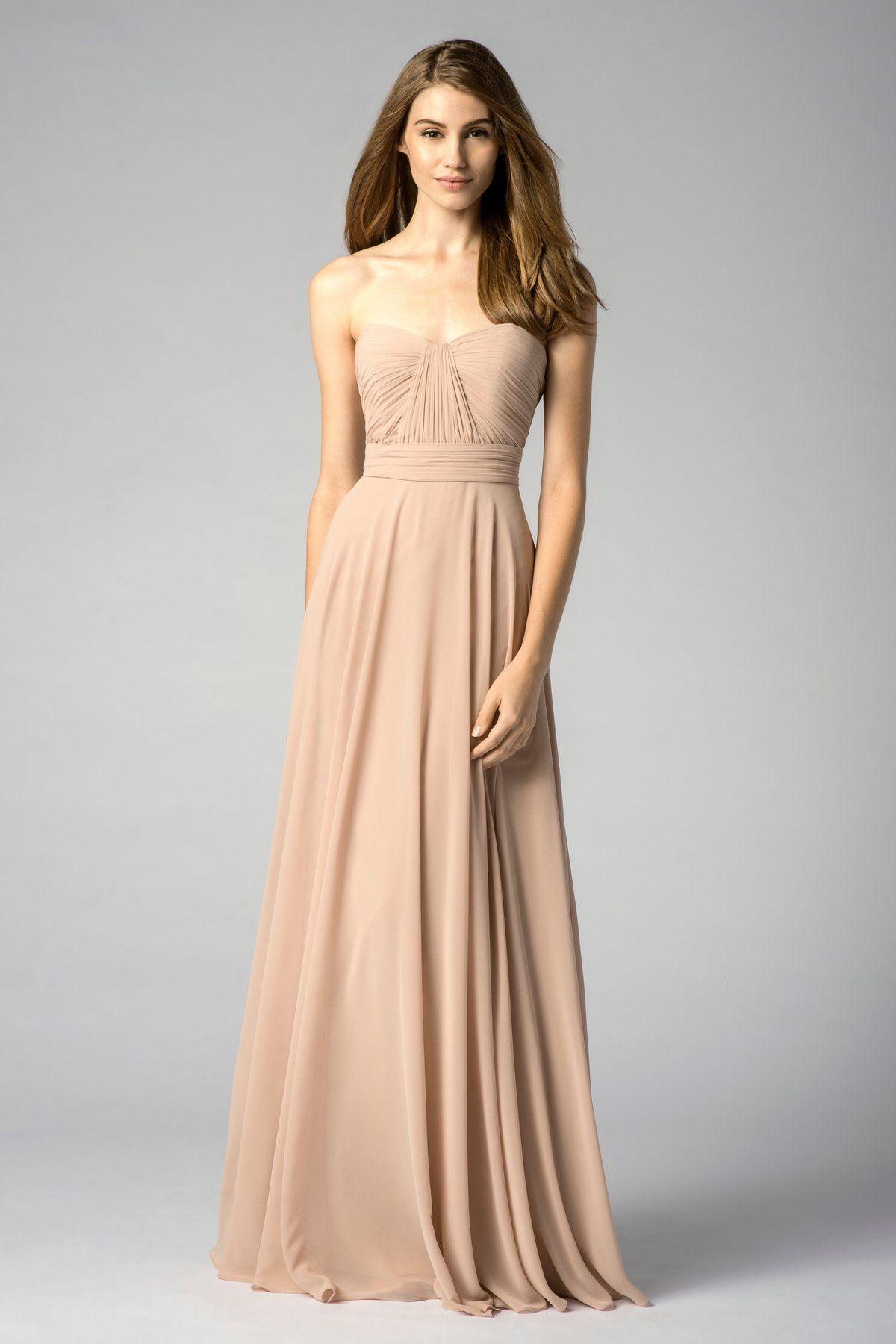Rent your wedding dress  Champagne Chiffon Bridesmaid Dress Bwawishesbridal