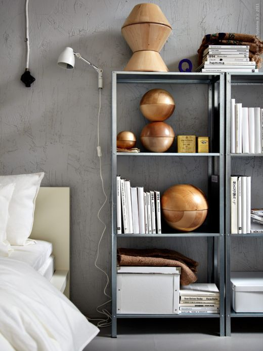 Open shelves in the bedroom ,c.a.p. | Shelves | Pinterest ...