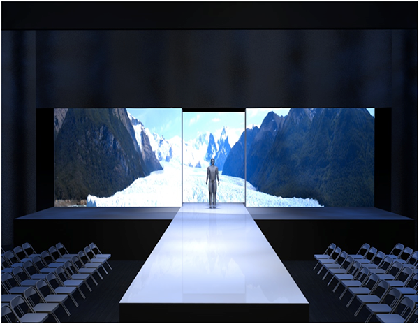 Designed fashion show set runway for project ethos los for Runway stages