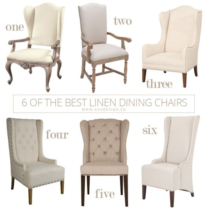 I Like The Wingback Shape For A Dining Room Chair   From Aka Design 6 Of  The Best Linen Dining Chairs