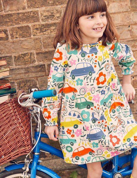 200ffa049d1 Robe imprimée voiture fille MiniBoden - mode enfant - mode fille -  collection automne hiver 2017 2018