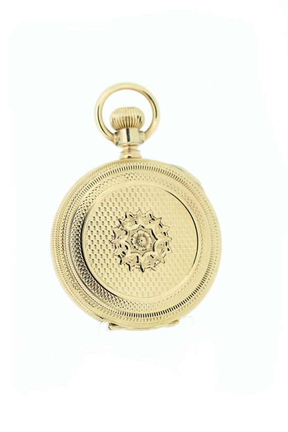 14K Yellow Gold Waltham Pocket Watch with by timekeepersinclayton