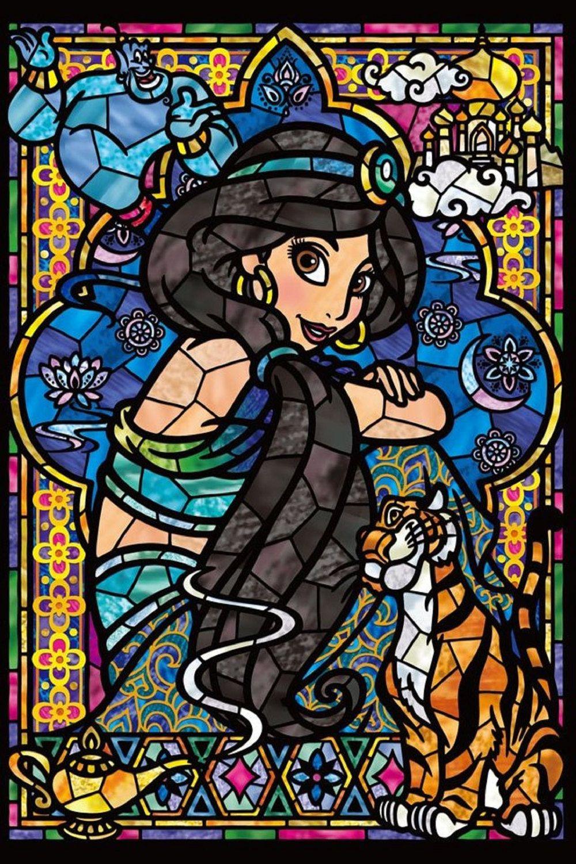 Princess Jasmine Aladdin Disney Stained Glass Disney Cross Stitch Pattern  Counted Cross Stitch Chart, Pdf