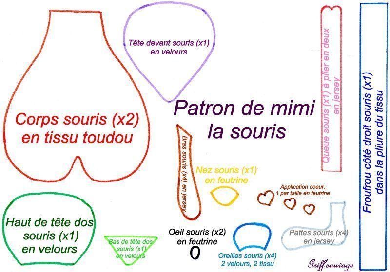 Patron Et Tuto De La Souris Mimi Griff Sauvage Doudou Souris