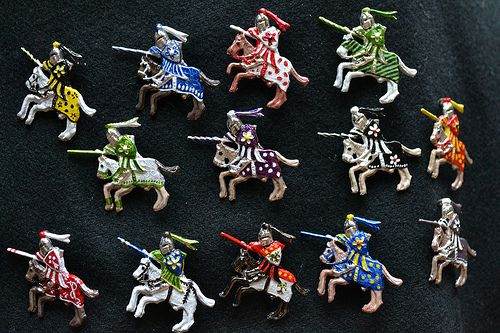 Morgan Donner also made these little knights.