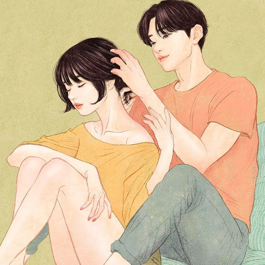 Korean Illustrator Captures Love And Intimacy
