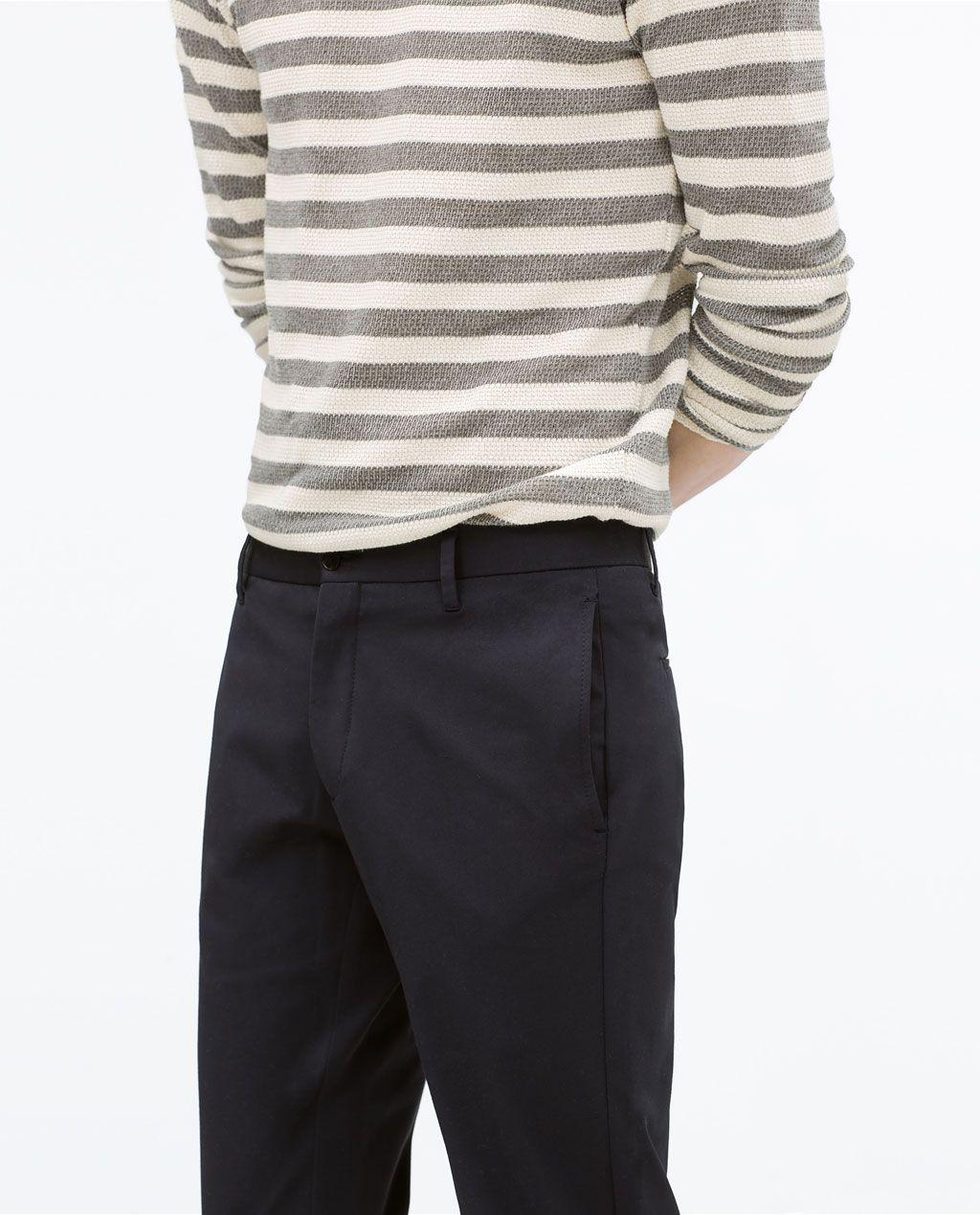 pantalon tissu homme zara