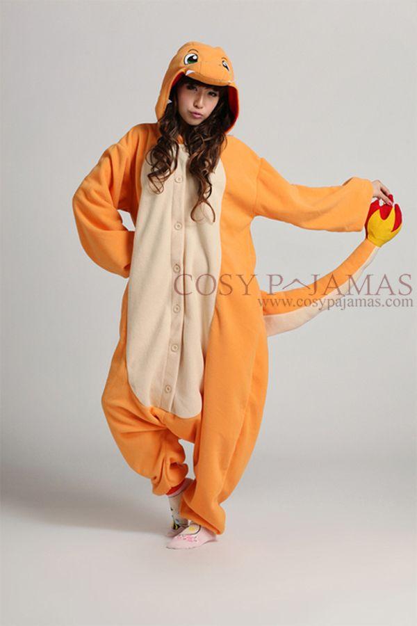 5b9eac2342ac Charmander Pokemon Onesie Kigurumi Pajamas