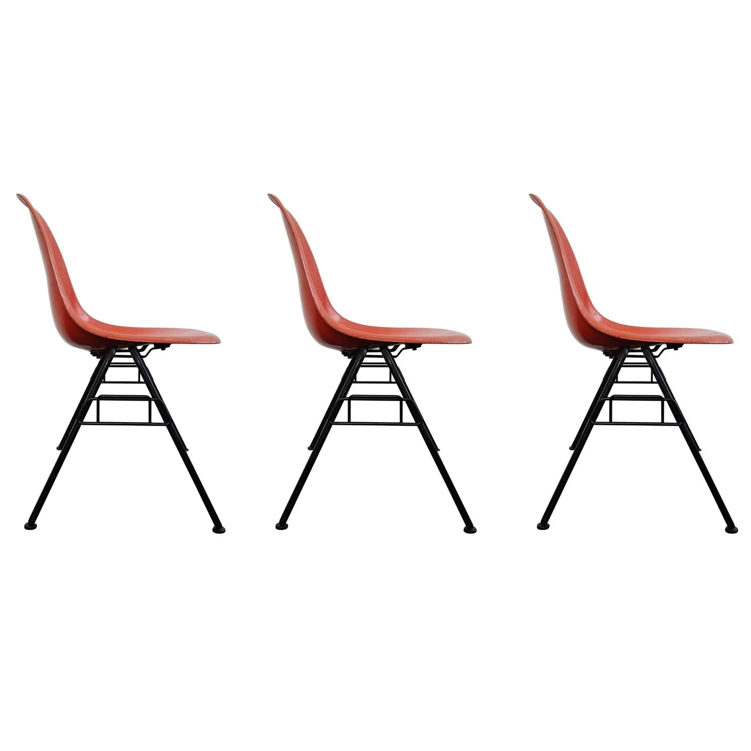 vintage charles ray eames dss stacking chairs for herman miller