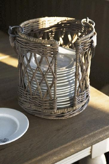 Love this plate basket | Basket Case! | Pinterest | Plate holder ...