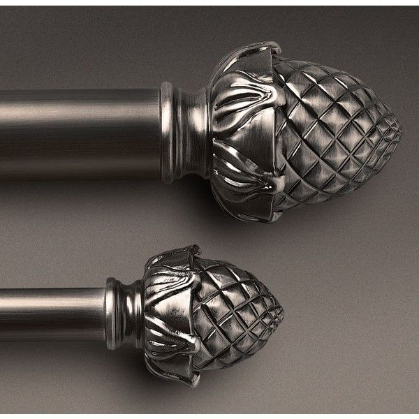 Antique Silver Pineapple Finial Rod Set 89 Liked On