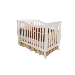 AFG Baby Furniture 6005W Athena Nadia Convertible Crib in White