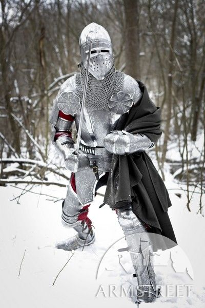 "Exclusive Paladin armour kit: etched stainless steel This kit is a full version of our ""Paladin"" series kit. This armor design inspired by classic XV century knight armour kits."