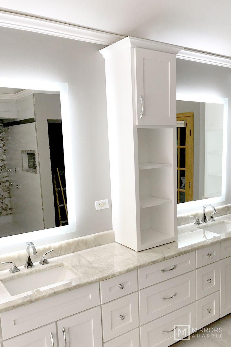 Side Lighted Led Bathroom Vanity Mirror 32 Wide X 44 Tall
