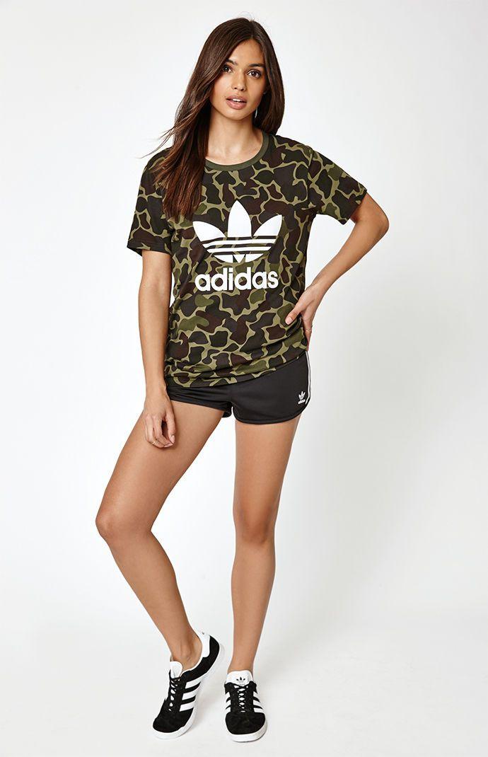 adidas Camo Boyfriend T Shirt at | @giftryapp