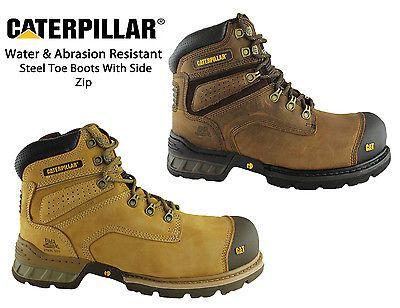 4680ddf18fbf1 Caterpillar CAT Holton Steel Toe Safety Mens Work Boots Industrial/Workwear  | eBay