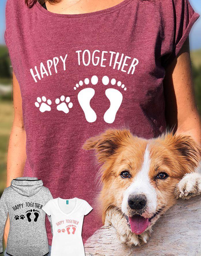 Die Mit Dem Hund Geht Gassi Hunde Spruch Frauen T-Shirt mit gerollten Ärmeln