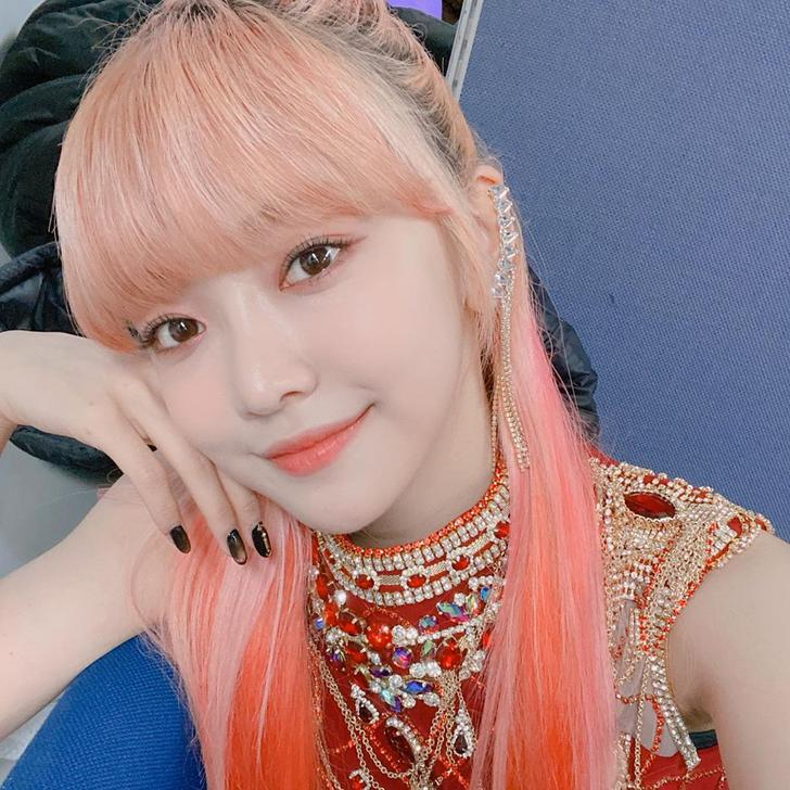 200216 Everglow Instagram Update Individual Selfies At Inkigayo Em 2020 Ondas Meninas Coreanas Feminino
