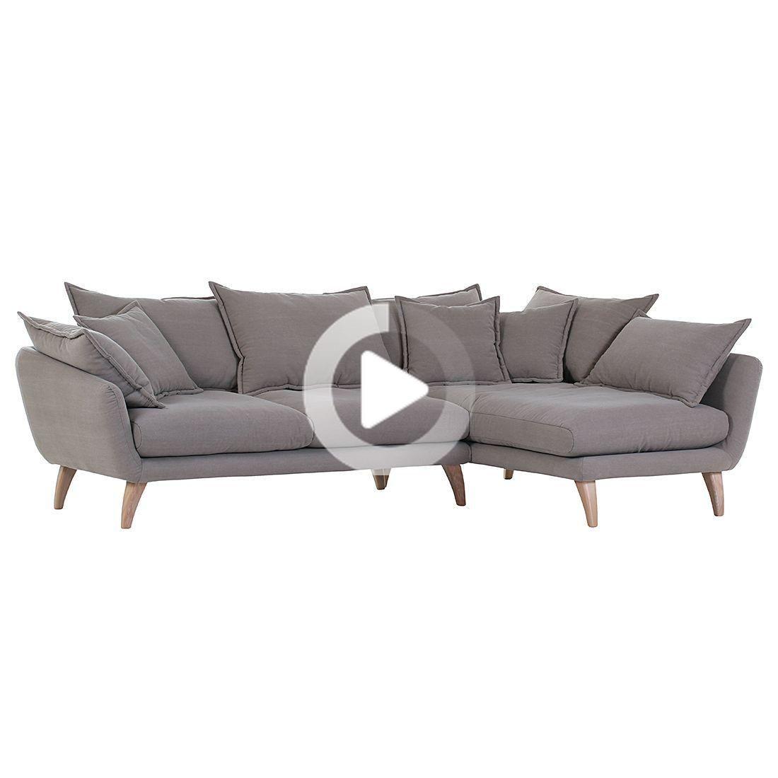 Norrwood Ecksofa Valby 2 Sitzer Grau Webstoff 267x66x170 Cm In 2020 Corner Sofa Beautiful Sofas Sofa