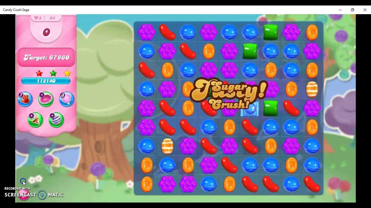 Candy Crush Saga Level 64 No Booster Candy Crush Games Candy Crush Soda Saga Candy Crush Jelly Saga