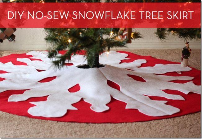 Music, and a No-Sew Tree Skirt Christmas Trees / DIY Pinterest