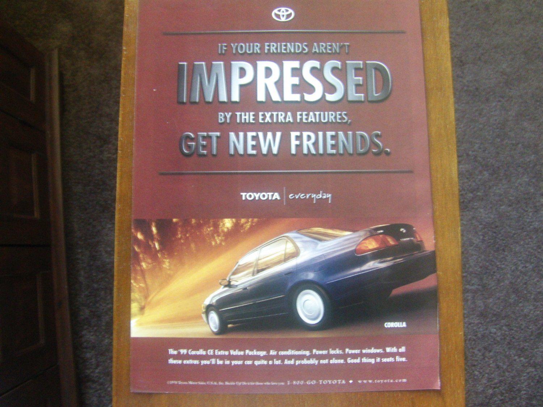 1999 Toyota Corolla Friends Classic Vintage Advertisement Toyota Corolla Vintage Advertisement Toyota