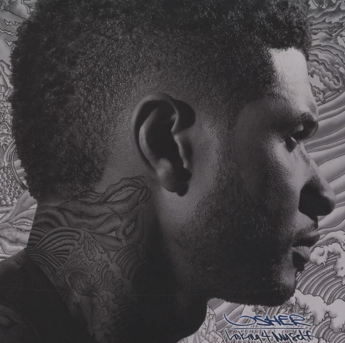 Album cover art usher looking myself music is in the